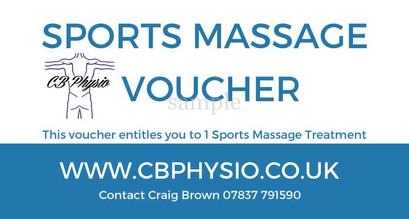 Craig Brown, CBPhysio - VOUCHER